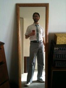 skinny tie died