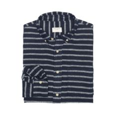 Here it is. A comfy fabric. A beautiful color. And nautical stripes look great on everyone.