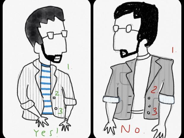 yes no blazer