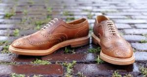 "Allen Edmonds' ""McTavish"" shoe. A heritage of kick-assery."